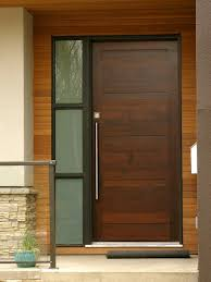 brown front doorContemporary Front Door with Stained glass window Pathway Frank