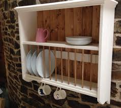 picture wooden plate rack wall mounted as wells kitchen