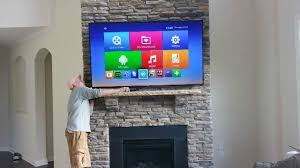 mounting a tv above a stone fireplace in charlotte nc
