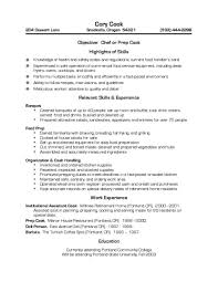 Culinary Sous Chef Resume Example Head Samples Cook Sample 19 Well