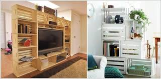 wood crate furniture. Make A Room Divider With Wood Crates Crate Furniture