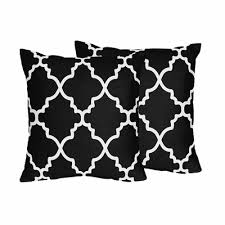 black and white accent pillows.  Accent Trellis Red And Black Collection Decorative Accent Throw Pillows  Set Of 2 Intended And White I