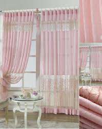 pink lace embroidery patterns curtains for bedroom