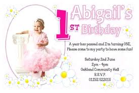 1st birthday invitation wording sles in english ideas baby