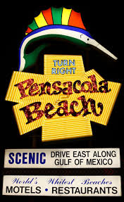 Light Up Pensacola Beach Sign Ornament Pensacola Beach Sign Pensacola Florida Night Pensacola