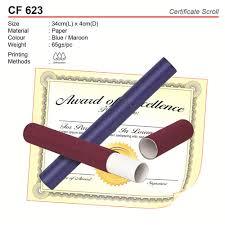 Certificate Scroll Holder Cf623