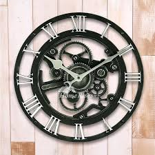 industrial wall clock mechanical round large 14 inch plastic industrial wall clock industrial wall clock