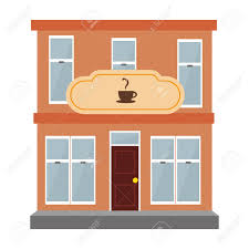 coffee shop building clipart. Simple Clipart Coffee Shop Building Isolated Icon Vector Illustration Design Stock Vector   78233486 In Coffee Shop Building Clipart C