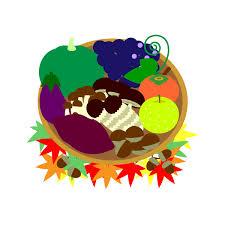 縁無しでかわいい秋の味覚狩りの無料イラスト・商用フリー   オイデ43