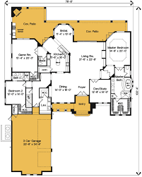 house plans with bonus room. Delighful Plans Exciting Mediterranean House Plan With Bonus Room  83342CL Floor Plan  Main Level Inside Plans With I