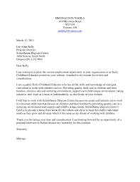 Sample Cover Letter For Childcare Worker Child Care Worker Cover