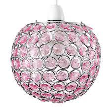 Hanglamp Kinderkamer Rond Met Roze Kralen Kidzsupplies