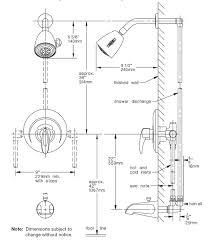 the standard height for shower bathroom plumbing