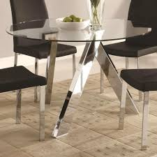 glass round dining table. Delightful Metal Dining Table Base Furniture Glass Round On Top With Legs And Black Chairs.jpg I