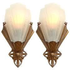art deco wall sconces pair of art wall sconces by art deco wall sconce light fixtures