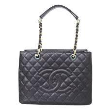 chanel black caviar leather gst grand per tote bag for