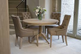 round dining table set. Neptune Henley Round Dining Table Room Furniture Faux Bamboo Intended For Luxurious Linen Chairs Set A