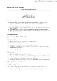 Advertising Resume Examples Advertising Advertising Marketing Resume