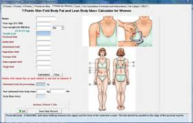 3 Point Body Fat Caliper Chart Free Skinfold Fat Calculator Software
