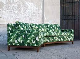 Palm Leaf Vintage Sofa Newly Upholstered sunbeam vintage