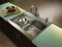 modern rectangle undermount stainless steel kitchen sink with tray for recommended kitchen sink idea