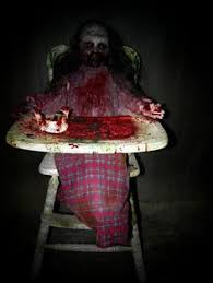 ... Diy Haunted House Ideas Decorations Homemade Props Feed Me Franny  Zombie Girl With High Chair Creepycollection ...