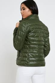 Only Short Quilted Jacket - Green - Sale & Only Short Quilted Jacket - Green Adamdwight.com