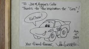 john lasseter drawing. Plain Lasseter Joe U0026 Aggieu0027s Cafe Sketch From John Lasseter And Drawing S