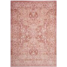 safavieh windsor leta rose red indoor oriental area rug common 8 x 10