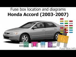 2003 Honda Accord Fuse Box Layout 95 Honda Accord Fuse Box Layout