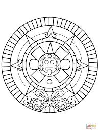 Sun Template Printable Aztec Sun Stone Coloring Page Free Printable Coloring Pages