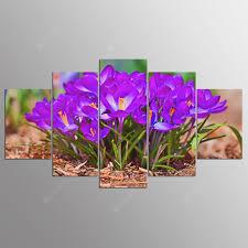 <b>YSDAFEN 5 Panel Modern</b> Spring Flowers Canvas Art for Living ...