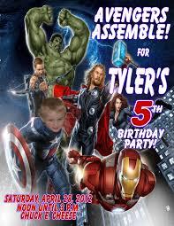 Personalized Superhero Birthday Invitations Avengers Personalized Photo Birthday Invitations 2012b 1 19