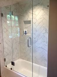 glass shower tub heavy glass shower enclosure 1 2 tempered glass door between two fixed panels glass shower tub best tub doors