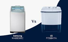 lg vs samsung washer. Exellent Washer Samsung WA80E5XEC Vs LG P7258N1FA Fully Automatic Or Throughout Lg Vs Washer N