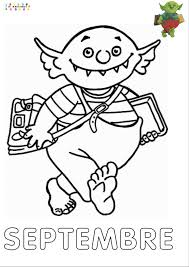 Le Petit Ogre Qui Veut Aller L Cole Mois De Septembre Pour Le