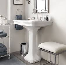 vanity large pedestal sink on grade a white vitreous china victoria classic 8 widespread faucet