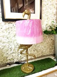 these brass flamingo table lamps are sure to add the wow factor to your home flamingos are right on trend and will add a stylish addition to your décor