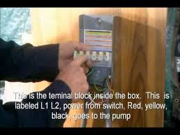 how to wire a pump controller youtube Franklin Electric Well Pump Control Box Wiring Diagram how to wire a pump controller Franklin Well Pump Control Box Wiring Utube