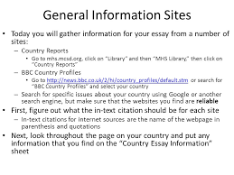 country essay gathering information day three ppt 3 general information