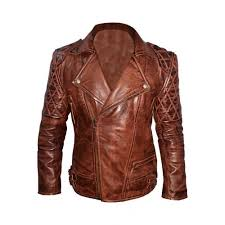 classic diamond mens biker dark brown jacket distressed jackets