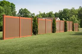 brown vinyl fence. Image Of: Brown Vinyl Fence Panels
