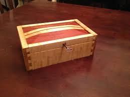 maple and bubinga keepsake box with lock in lid by jasonjenkins lumberjocks com woodworking community wood items i like