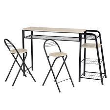 Ensemble table à manger métal chaise rabattable — table haute de bar ...
