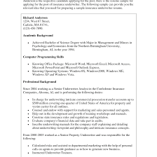 Cover Letter Samples For Insurance Jobs Tomyumtumweb Com