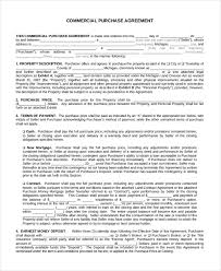 Free 9 Sample Commercial Agreement Forms In Sample Example