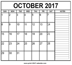 october 2017 printable calendar with holidays free template