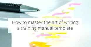 Training Manual Format Writing A Manuals – Stiropor Idea