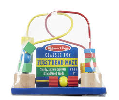 Wooden Bead Game Amazon Melissa Doug First Bead Maze Wooden Educational 76