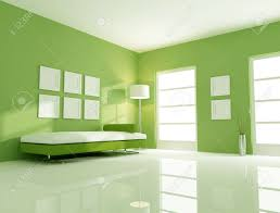 Lime Green Living Room Modern Couch In A Bright Green Living Room Stock Photo Picture